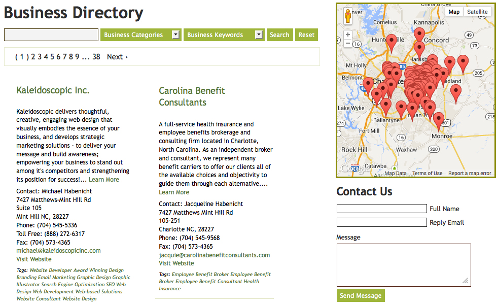 CMS Business Directory Module with Geo-Mapping