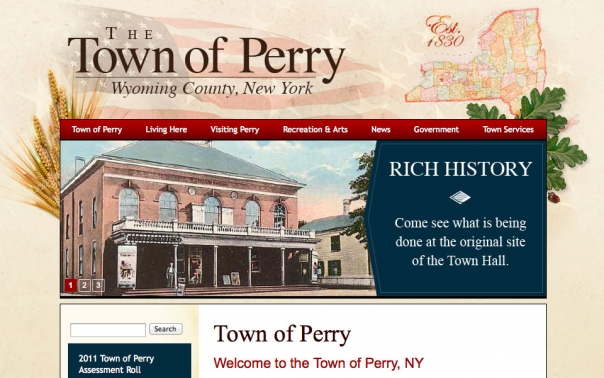 Town of Perry NY Website design and web development