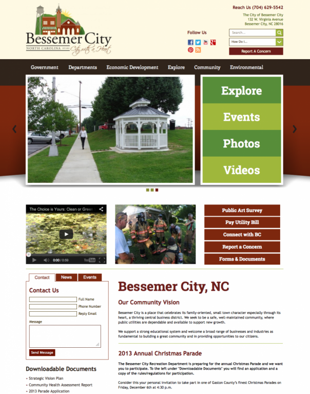 Bessemer City Municipal Website Development